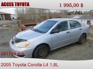 Used 2005 Toyota Corolla AUTOMATIQUE for sale in Rouyn-Noranda, QC