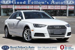 Used 2017 Audi A4 2.0 L 4 CYL GASOLINE FUEL, 4WD, QUATRO, BLUETOOTH for sale in Toronto, ON