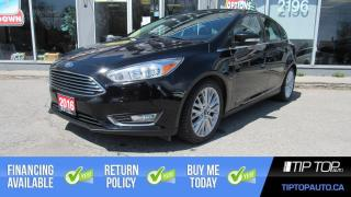 Used 2016 Ford Focus Titanium ** Leather, Bluetooth, Sunroof, Backup Ca for sale in Bowmanville, ON