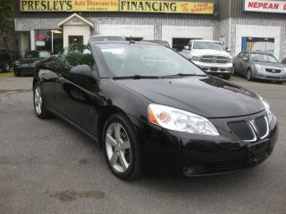 Used 2008 Pontiac G6 GT 3.9L 6cyl AC Auto Convertible Htd Leather PL PW for sale in Ottawa, ON