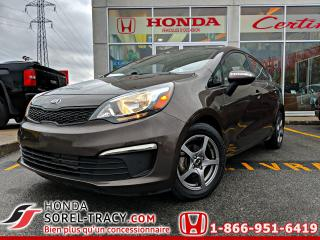 Used 2016 Kia Rio Berline 4 portes, boîte manuelle, LX for sale in Sorel-Tracy, QC