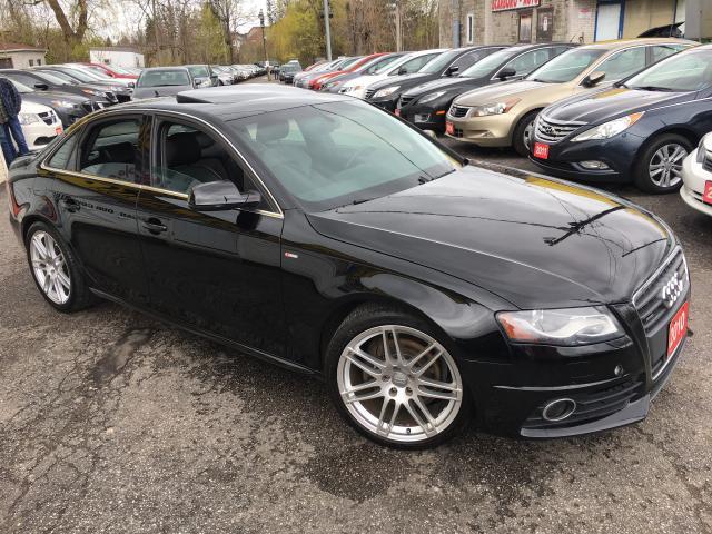 2010 Audi A4 PREMIUM/ QUATTRO/ S-LINE/ 6 SPEED/ ALLOYS/ LOADED!