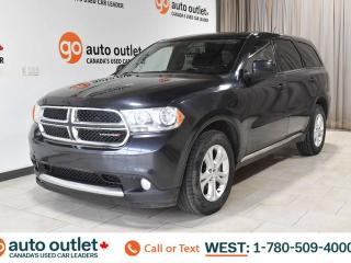 Used 2013 Dodge Durango SXT, AWD, POWER WINDOWS, STEERING WHEEL CONTROLS, CRUISE CONTROL, FOG LIGHTS, A/C, AM/FM RADIO, SATELLITE RADIO for sale in Edmonton, AB
