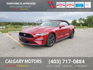 Used 2018 Ford Mustang ECOBOOST CONVERTIBLE for sale in Calgary, AB
