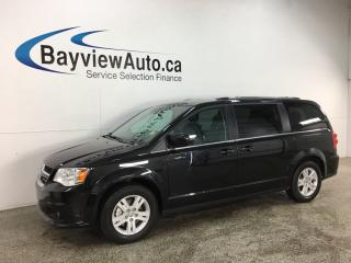 Used 2018 Dodge Grand Caravan Crew - 20,000KMS! 3 ZONE CLIMATE! STOW 'N GO! HTD LEATHER! ALLOYS! + MORE! for sale in Belleville, ON