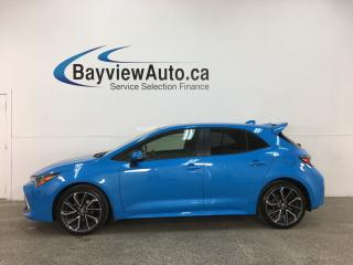 Used 2019 Toyota Corolla Hatchback - XSE! NAV! 18' ALLOYS! LTHR! BLUE FLAME! for sale in Belleville, ON
