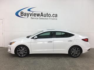 Used 2019 Hyundai Elantra Luxury - AUTO! HTD LTHR! SUNROOF! ALLOYS! + MORE! for sale in Belleville, ON