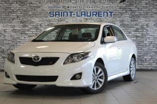 Used 2010 Toyota Corolla S BAS KM*A/C*AUX* for sale in St-Laurent, QC