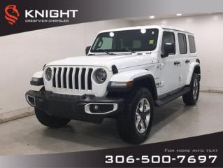 New 2019 Jeep Wrangler Unlimited Sahara | 2.0L Turbo | Leather | Navigation | for sale in Regina, SK