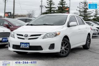 Used 2012 Toyota Corolla Tinted Xenon's Alloys Spotless Certified Serviced for sale in Bolton, ON