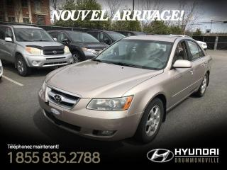 Used 2007 Hyundai Sonata GLS + CUIR + MAGS + TOIT + CAMERA !! for sale in Drummondville, QC