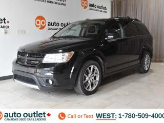 Used 2013 Dodge Journey R/T, THIRD ROW SEATING, AWD, POWER WINDOWS & SEATS, STEERING WHEEL CONTROLS, CRUISE CONTROL, A/C, AM/FM RADIO, SATELLITE RADIO, REAR A/C & DVD SYSTEM, NAVIGATION, HEATED STEERING WHEEL, BACKUP CAMERA, SUNROOF for sale in Edmonton, AB