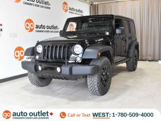 Used 2018 Jeep Wrangler JK Unlimited Willys Wheeler 4x4, Auto, Removable Roof for sale in Edmonton, AB