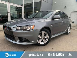 Used 2014 Mitsubishi Lancer GT MANUAL SUNROOF LEATHER VERY NICE for sale in Edmonton, AB