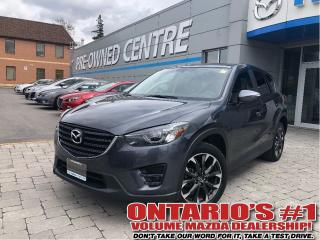 Used 2016 Mazda CX-5 GT-AWD/NAV, BACKUP CAM/LEATHER SEATS SUN ROOF!!! for sale in Toronto, ON