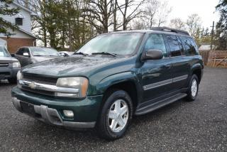 Used 2002 Chevrolet TrailBlazer EXT 4dr 4WD LT, 7 passenger, no accidents, service records for sale in Halton Hills, ON