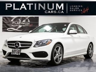 Used 2015 Mercedes-Benz C 300 4MATIC, AMG SPORT, NAVI, PANO, RED LTHR, CAM for sale in Toronto, ON