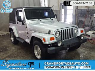 Used 2005 Jeep TJ Sport 2 Portes Manuelle for sale in Rivière-Du-Loup, QC