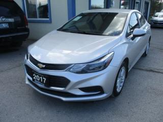Used 2017 Chevrolet Cruze GAS SAVING LT MODEL 5 PASSENGER 1.4L - TURBO.. HEATED SEATS.. BACK-UP CAMERA.. BLUETOOTH.. TOUCH SCREEN DISPLAY.. for sale in Bradford, ON