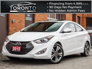 Used 2015 Hyundai Elantra Coupe Gt Limited Navigation Leather Sunroof Back up Cam for sale in North York, ON
