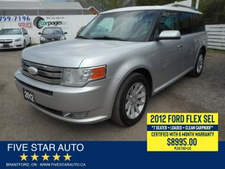 Used 2012 Ford Flex SEL *Clean Carproof* Certified w/ 6 Month Warranty for sale in Brantford, ON