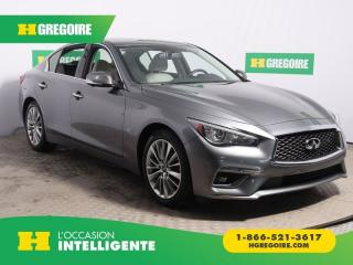 Used 2018 Infiniti Q50 3.0T LUXE AWD CUIR for sale in St-Léonard, QC