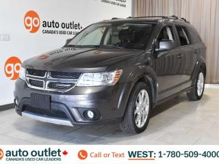 Used 2016 Dodge Journey LIMITED, FWD, POWER WINDOWS & SEATS, STEERING WHEEL CONTROLS, CRUISE CONTROL, HANDSFREE/BLUETOOTH, AM/FM RADIO, SATELLITE RADIO, BACKUP CAMERA, SUNROOF, FRONT AND REAR A/C, DVD ENTERTAINMENT SYSTEM for sale in Edmonton, AB