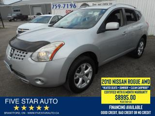 Used 2010 Nissan Rogue SL AWD *Clean Carproof* Certified + 6 Mth Warranty for sale in Brantford, ON