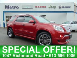 Used 2012 GMC Acadia Denali AWD - Fully Loaded for sale in Ottawa, ON