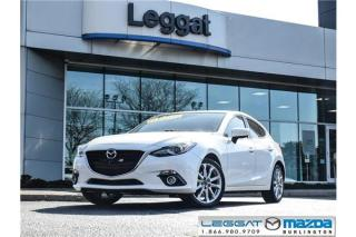 Used 2015 Mazda MAZDA3 GT- LEATHER, MOONROOF, BOSE, BLUETOOTH for sale in Burlington, ON