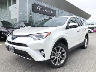 Used 2016 Toyota RAV4 Hybrid Limited Limited Hybrid, Local, NO Accidents for sale in North Vancouver, BC