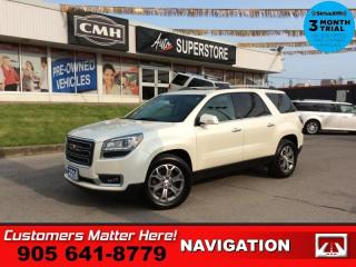 Used 2014 GMC Acadia SLT1  NAV DUAL-ROOF LEATH BOSE P/SEATS P/GATE for sale in St. Catharines, ON