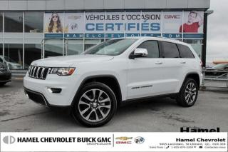 Used 2018 Jeep Grand Cherokee LIMITE *TOIT OUVRANT * NAVI* JANTES 20 * CAM for sale in St-Léonard, QC