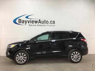 Used 2018 Ford Escape Titanium - 4WD! HEATED LEATHER! PANOROOF! NAV! PARK ASSIST! ALLOYS! + MORE! for sale in Belleville, ON