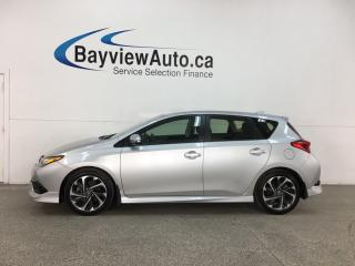 Used 2018 Toyota Corolla iM - AUTO! HEATED SEATS! PWR GROUP! ALLOYS! for sale in Belleville, ON
