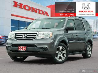 Used 2014 Honda Pilot LX EIGHT PASSENGER SEATING | BLUETOOTH | REARVIEW CAMERA WITH GUIDELINES for sale in Cambridge, ON
