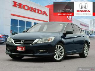 Used 2015 Honda Accord Touring HEATED SEATS | REARVIEW CAMERA WITH GUIDELINES | GPS NAVIGATION for sale in Cambridge, ON