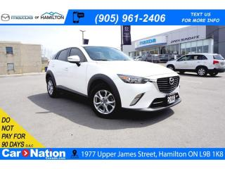 Used 2016 Mazda CX-3 GS | SUNROOF | HEATED SEATS | LEATHERETTE for sale in Hamilton, ON