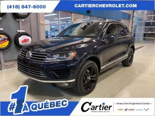 Used 2017 Volkswagen Touareg WOLFSBURG AWD * NAV * 7700 lbs for sale in Québec, QC