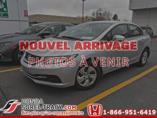 Used 2015 Honda Civic 4 portes, boîte manuelle, LX for sale in Sorel-Tracy, QC