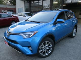 Used 2016 Toyota RAV4 LIMITED-HYBRID-AWD-NAVI-CAMERA-LTHER-ROOF-BLIND SP for sale in Scarborough, ON