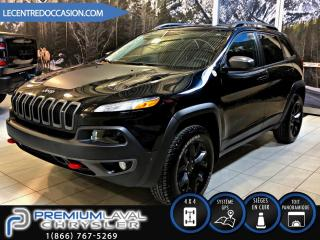 Used 2017 Jeep Cherokee TRAILHAWK 4X4*V6/CUIR/TOIT/NAV/GROUPE TE for sale in Laval, QC