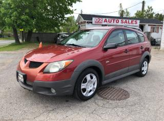 Used 2004 Pontiac Vibe Comes Certiified/Automatic/Accident Free/Gas Saver for sale in Scarborough, ON