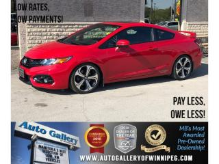 Used 2015 Honda Civic COUPE Si *6Spd/Navi/Bluetooth/Roof for sale in Winnipeg, MB