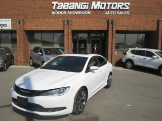 Used 2016 Chrysler 200 S | NAVIGATION | LEATHER | SUNROOF | REAR CAM | 8 INCH MEDIA for sale in Mississauga, ON