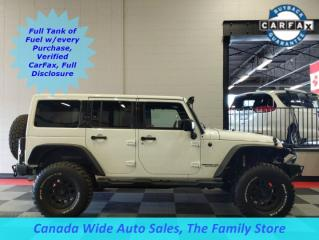 Used 2015 Jeep Wrangler Unlimited 4X4 Sahara, Leather, Fox Lift, Navigation,Winch,  Too Many Ads to List for sale in Edmonton, AB