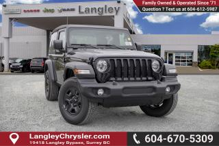 New 2019 Jeep Wrangler Sport -  Uconnect for sale in Surrey, BC