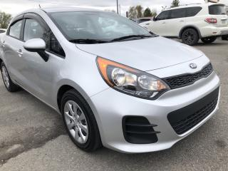 Used 2016 Kia Rio LX 6-Speed Manual with Pwr Windows and Locks! Steering Wheel Volume Controls and AUX/USB! for sale in Kemptville, ON