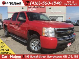 Used 2011 Chevrolet Silverado 1500 LS | CREW CAB | 6 PASS | 4.8L V8 | HOT RED | for sale in Georgetown, ON