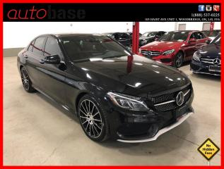 Used 2016 Mercedes-Benz C-Class C450 AMG 4MATIC HUD DISTRONIC PREMIUM LED RED INT! for sale in Vaughan, ON